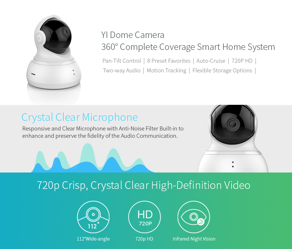 XIAOMI YI DOME CAMERA IP - CHYTRÁ IP KAMERA 360